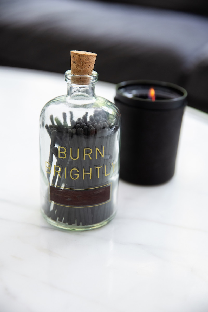 Burn Brightly Matches & Candle