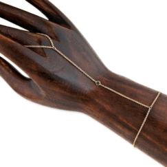 NK x Jacquie Aiche Black Diamond Bezel Finger Bracelet