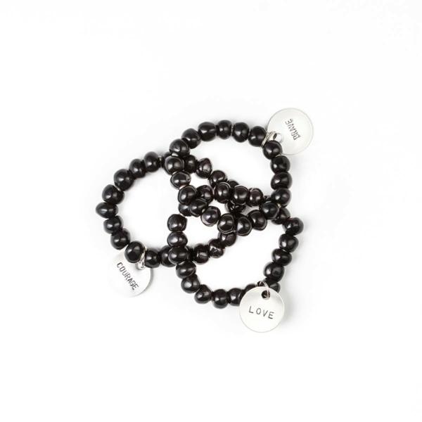 NK x SIMBI Black Charm Bracelet